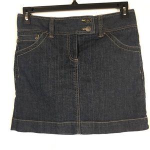 Ann Taylor LOFT Denim Jean Skirt Blue Pockets